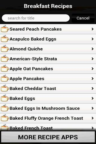 Breakfast Recipes Cookbook - screenshot