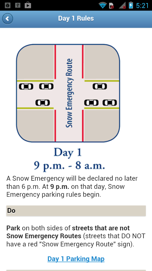 Mpls Snow Emergency Rules- screenshot