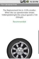 Screenshot of Tire Calculator FREE