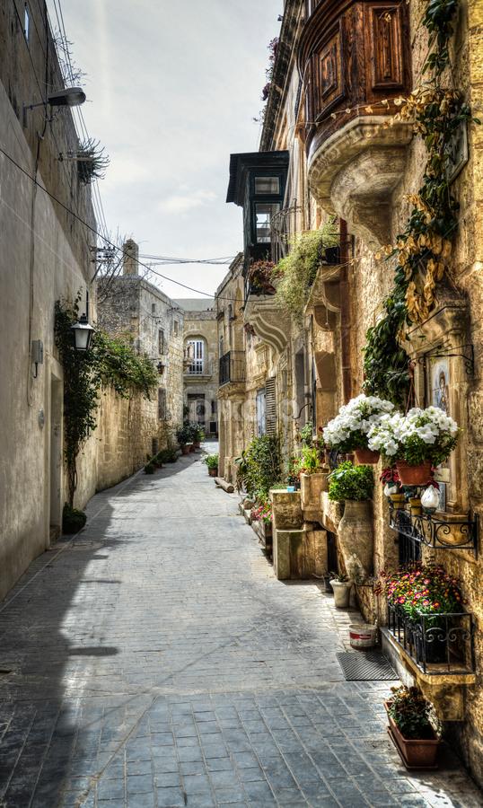 Valletta Alley 4 by Don Alexander Lumsden - City,  Street & Park  Street Scenes