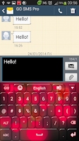 Screenshot of Hearts Keyboard