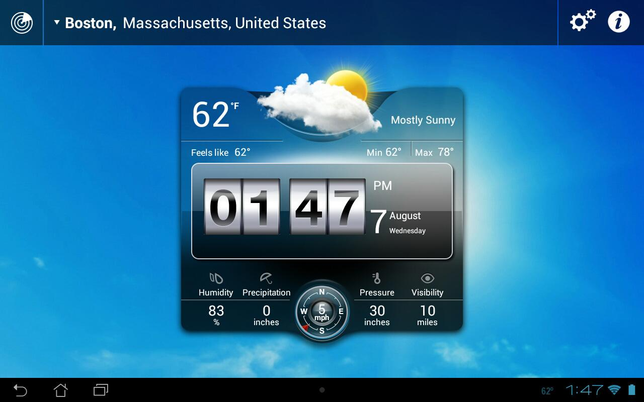 Weather Live Widgets - screenshot
