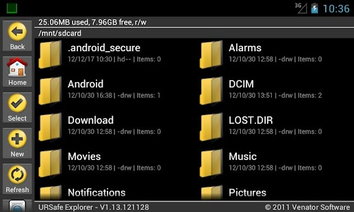 URSafe File Explorer PRO - screenshot thumbnail