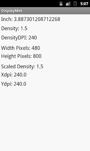 Configurações do display