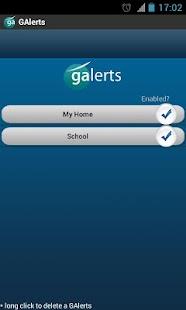 GAlerts - GPS alerts for trips - screenshot thumbnail