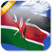 3D Kenya Flag Live Wallpaper