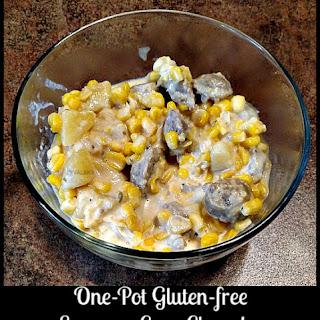 One-Pot Gluten-free Sausage Corn Chowder #Recipe