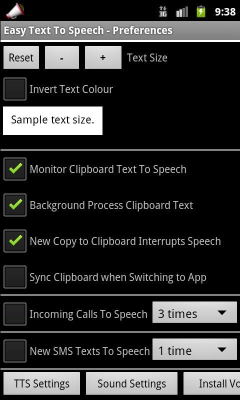 Easy Text To Speech - screenshot