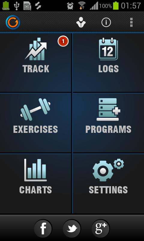 Gymprovise Gym Workout Tracker - screenshot