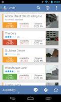 Screenshot of Parkopedia Parking