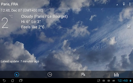 Transparent clock & weather Screenshot 3