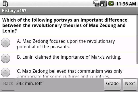 PRAXIS II World and US History - screenshot