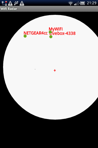 MyWiFi RADAR - screenshot