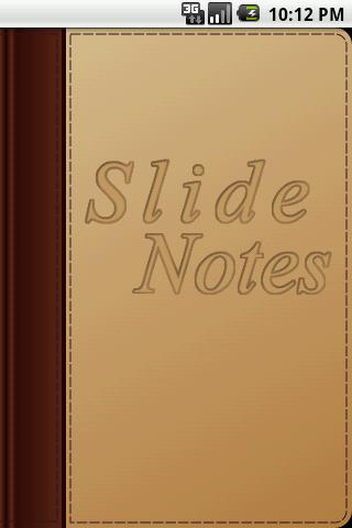 Slide Notes - screenshot