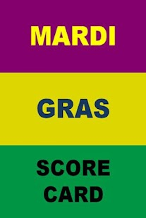 Mardi Gras Score Card - screenshot thumbnail
