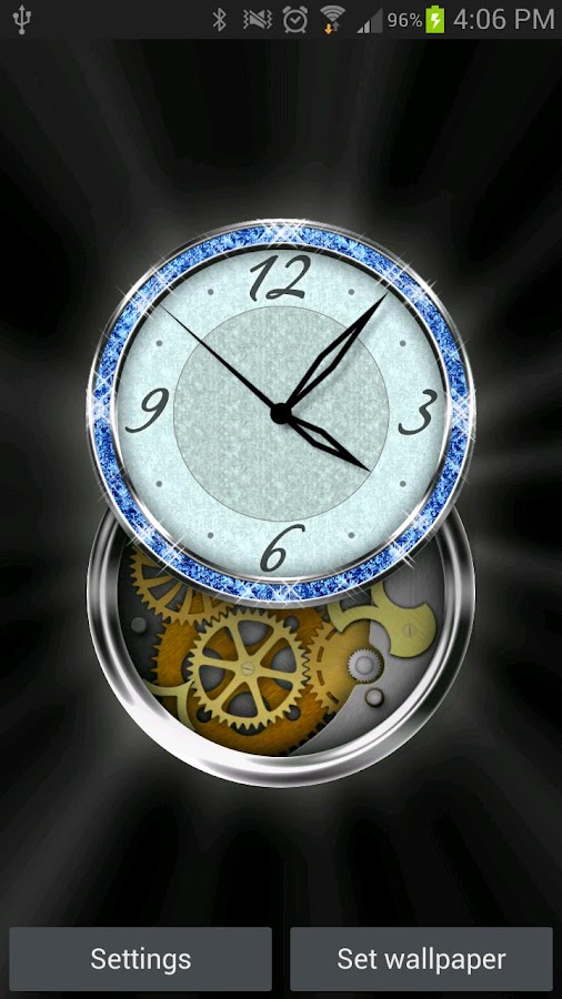 Clockwork HD LWP: Jewels- screenshot