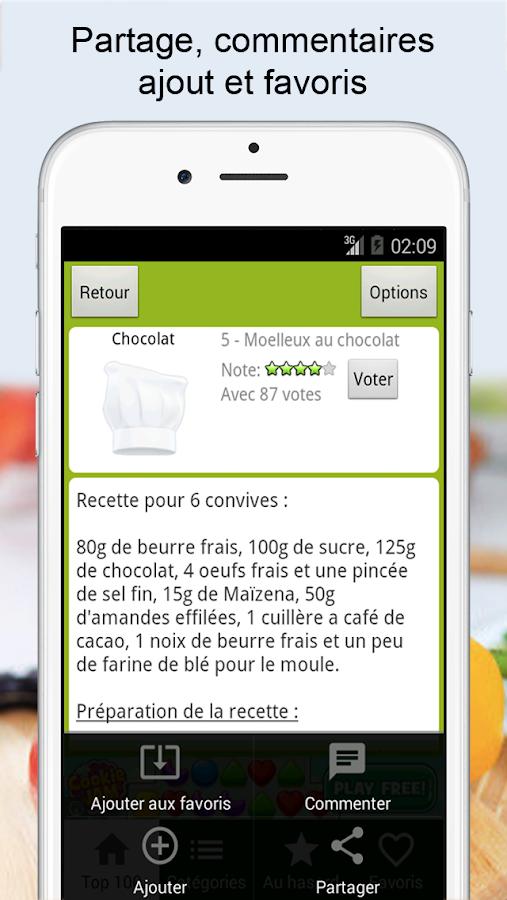 Recettes cuisine et cocktails - screenshot