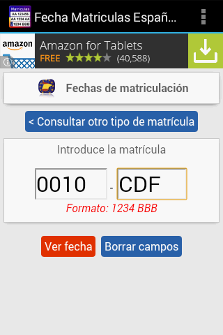 Fecha Matrículas de Coches- screenshot