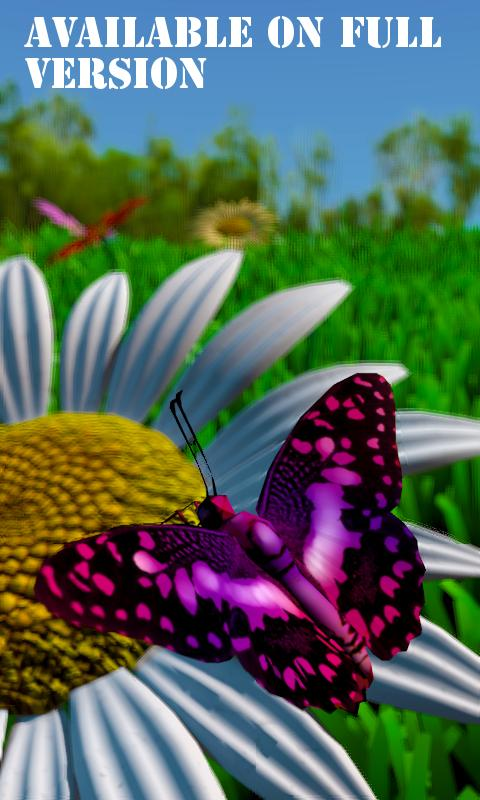 live wallpaper butterfly x- screenshot