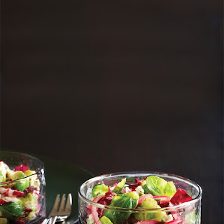 Brussels Sprouts, Radicchio, and Pickled Red Onion Salad