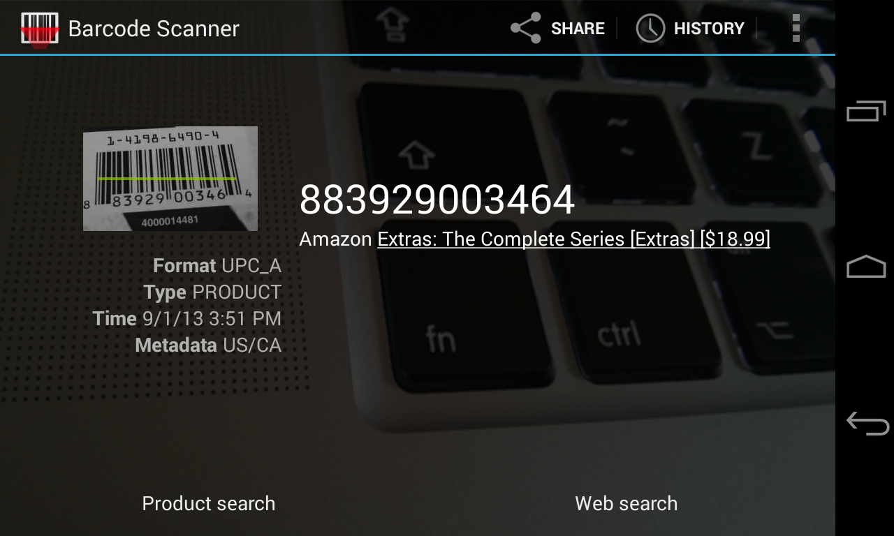 Barcode Scanner: screenshot