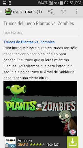 Trucos Plants vs Zombies