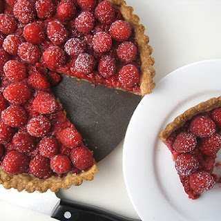 Really Raspberry Coconut Tart (from Alice Medrich)