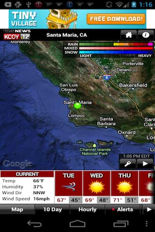 KCOY Weather - screenshot