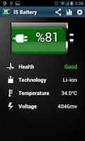 Screenshot of IS Battery Saver