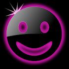 Sleek Ebony Pink GO Theme icon