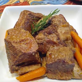 Beef Short Ribs Braised In Brown Ale