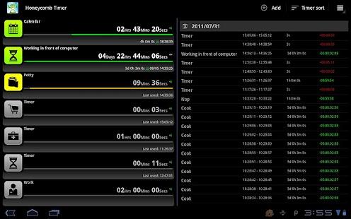 Tablet Timer & Stopwatch - screenshot thumbnail