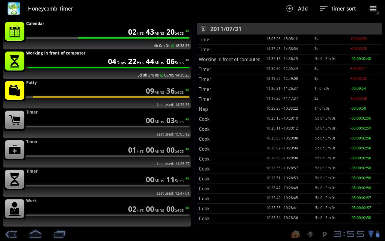 Tablet Timer & Stopwatch- screenshot