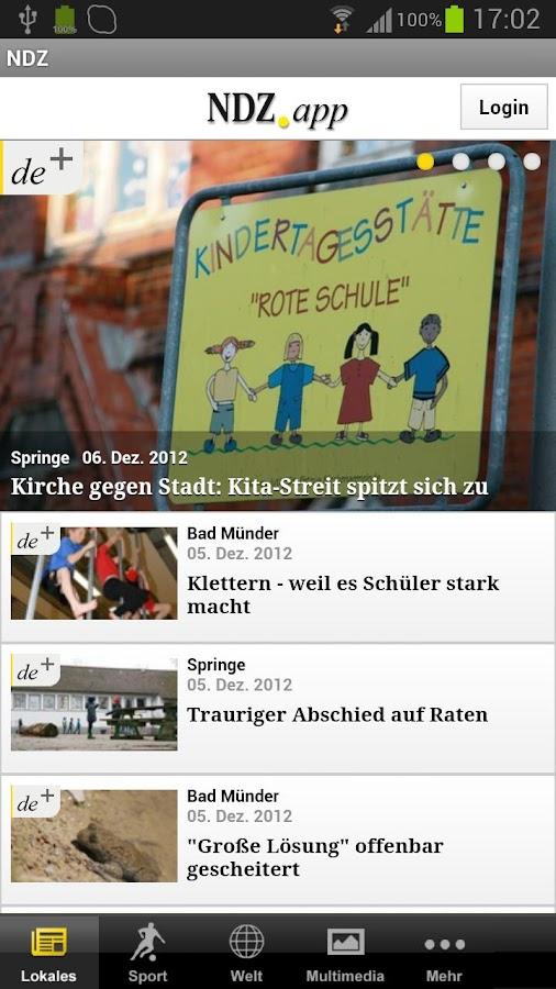 Neue Deister-Zeitung - NDZ - screenshot