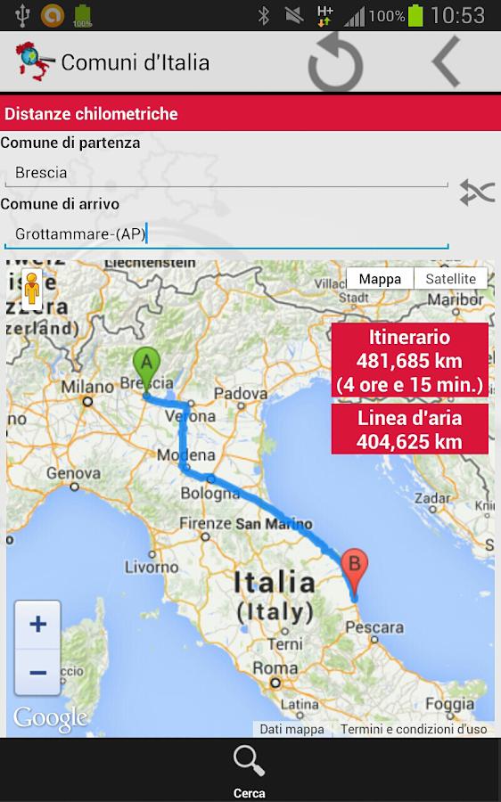 Comuni d'Italia - screenshot
