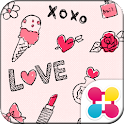 Cute Theme-KissKiss- icon