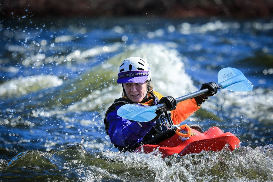 Playin' in the White Water by Roberta Janik - Sports & Fitness Watersports ( otonabee river, lakefield, paddling, boats, sports, kayak, white water, kayaking,  )