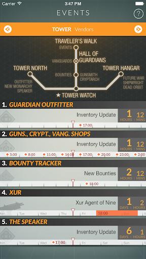 Destiny Public Events Tracker 3.3 screenshots 5