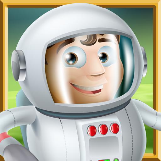 Astronaut Boy Memory Puzzle LOGO-APP點子