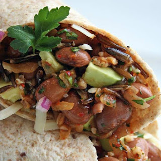 Pinto Bean, Quinoa, and Wild Rice Wrap.