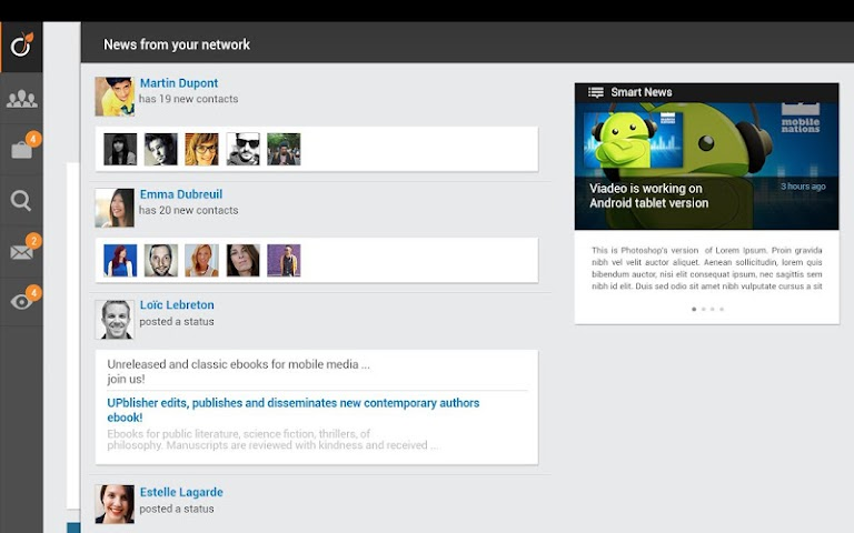 android Viadeo Screenshot 9