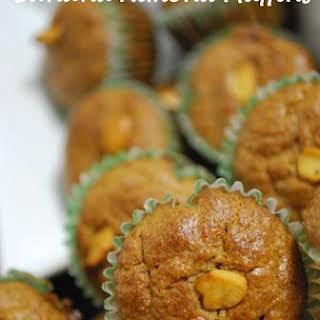 Vegan Banana Almond Muffins.