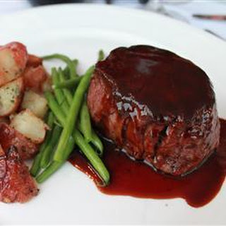 Fillet Steak With Red Wine Balsamic Reduction.