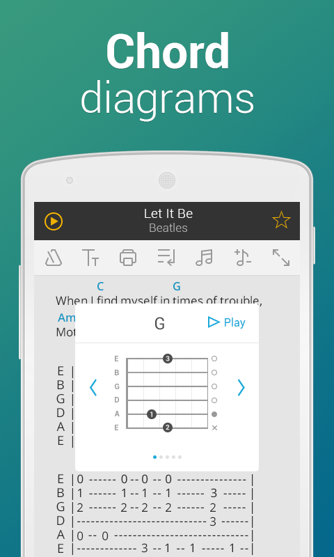 Ultimate Guitar Tabs & Chords - screenshot
