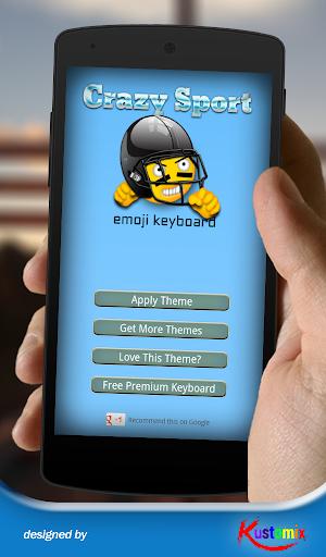Crazy Sport Emoji Keyboard