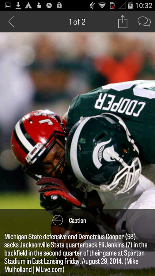 MLive.com: MSU Football News - screenshot