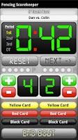 Screenshot of Fencing ScoreKeeper
