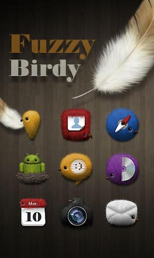 Fuzzy birdy GO Launcher Theme