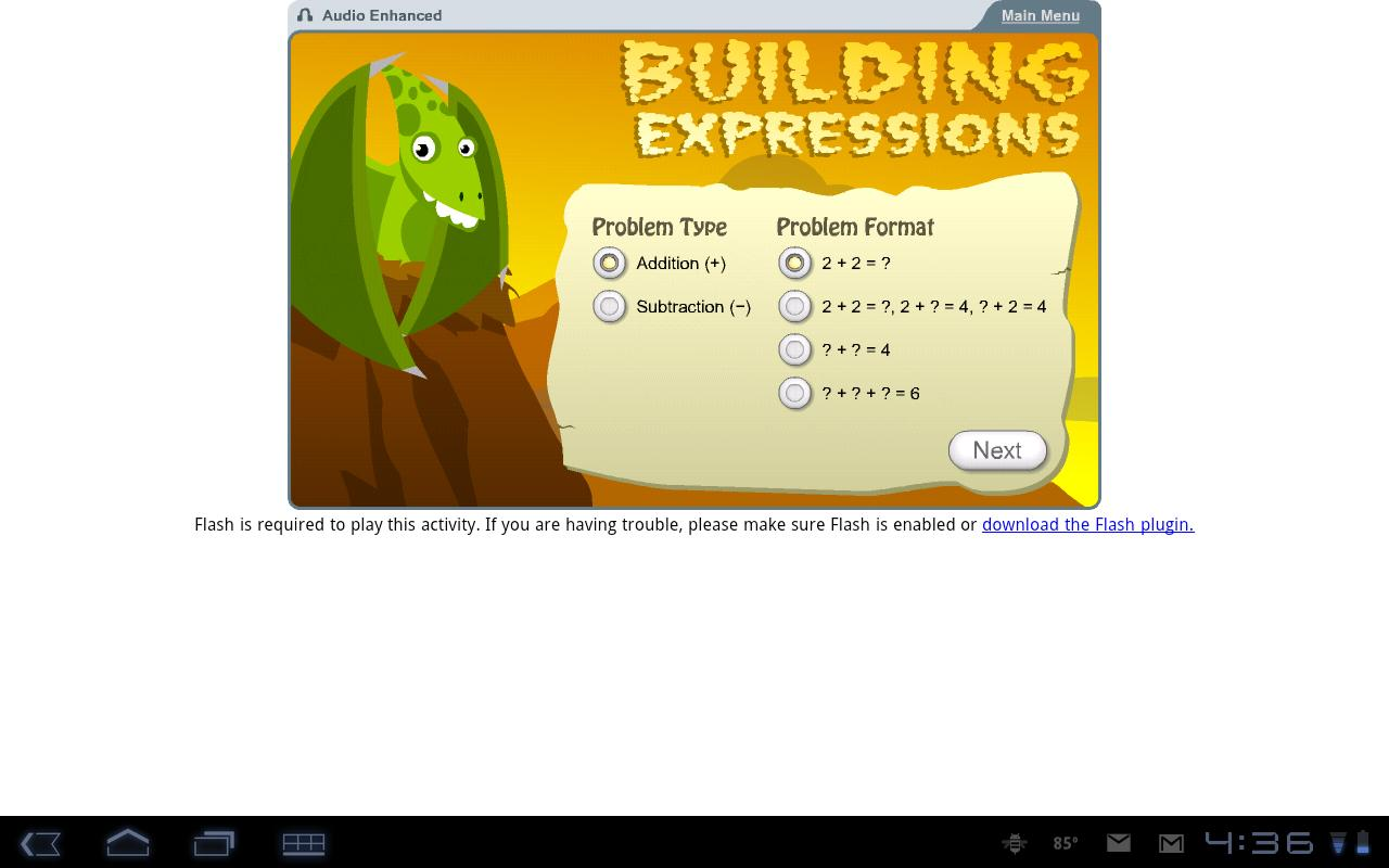 K12 Math Sampler- screenshot