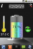 Screenshot of Battery Pro Live Wallpaper.